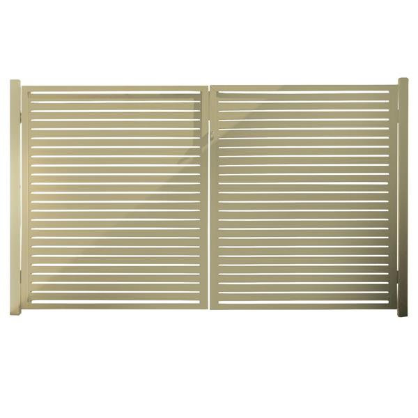 "Clôture Quick Screen en aluminium, 40"" X 71"", beige"