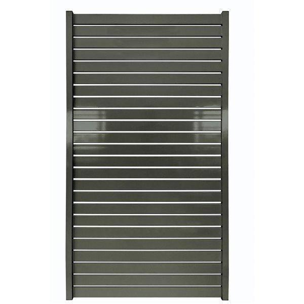 Stratco Quick Screen Aluminum Gate - 40-in x 71-in - Slate Gray