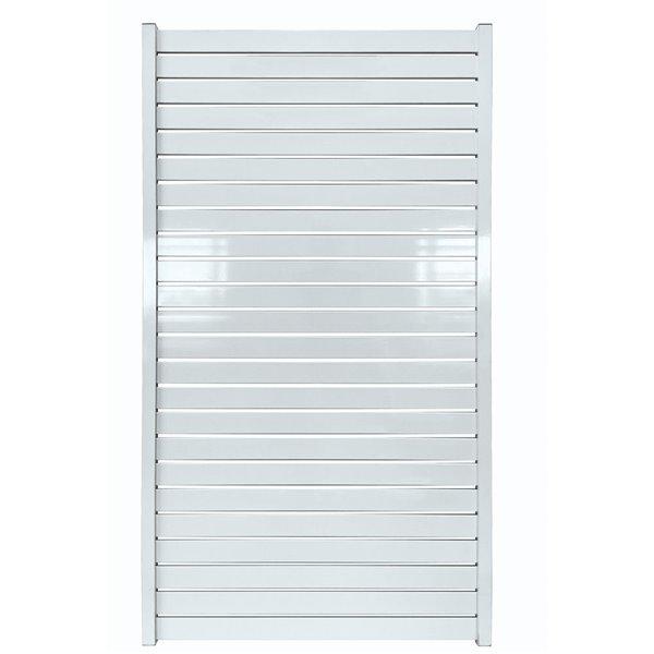 """Clôture Quick Screen en aluminum, 40"""" x 71"""", blanc"""