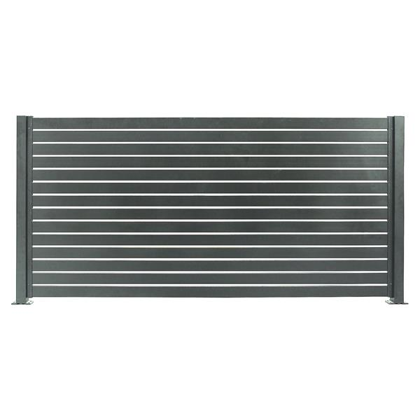 Ensemble de clôture en aluminium Quick Screen, gris