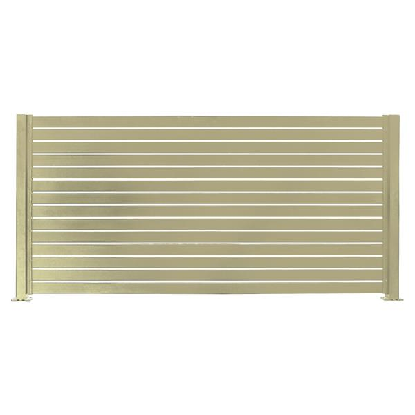 "Stratco Quick Screen Aluminum Fencing Kit - 94"" x 71"" - Beige"