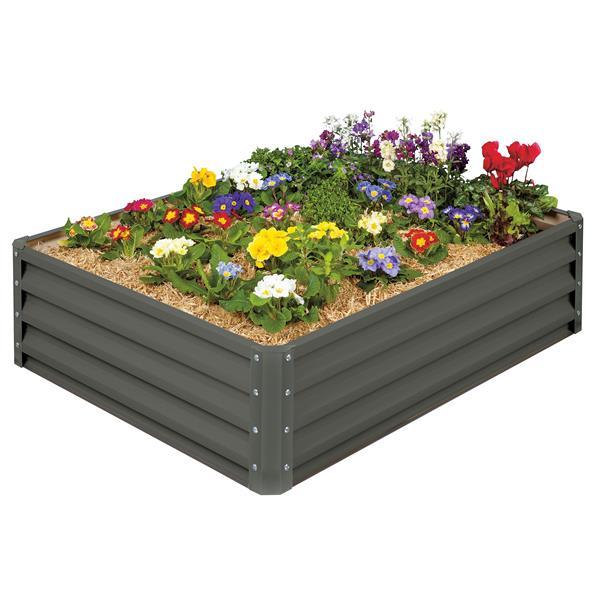 Stratco Aluminum Raised Garden Bed - Slate Gray