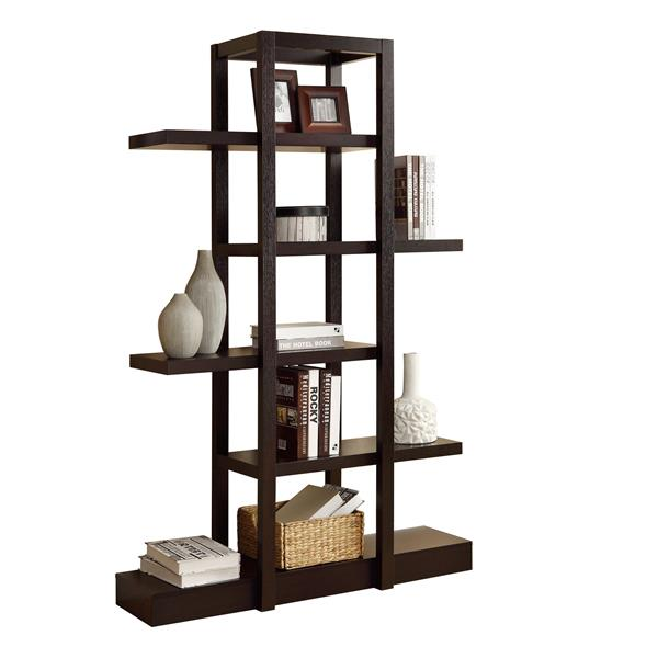 Monarch Bookcase - 71-in- Cappuccino