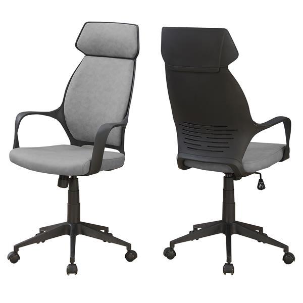 Chaise de bureau en microfibre, gris
