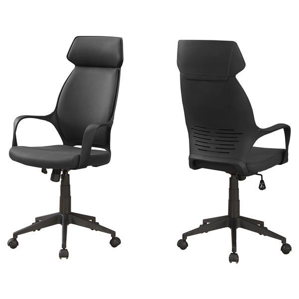 Monarch Microfiber Office Chair - Black