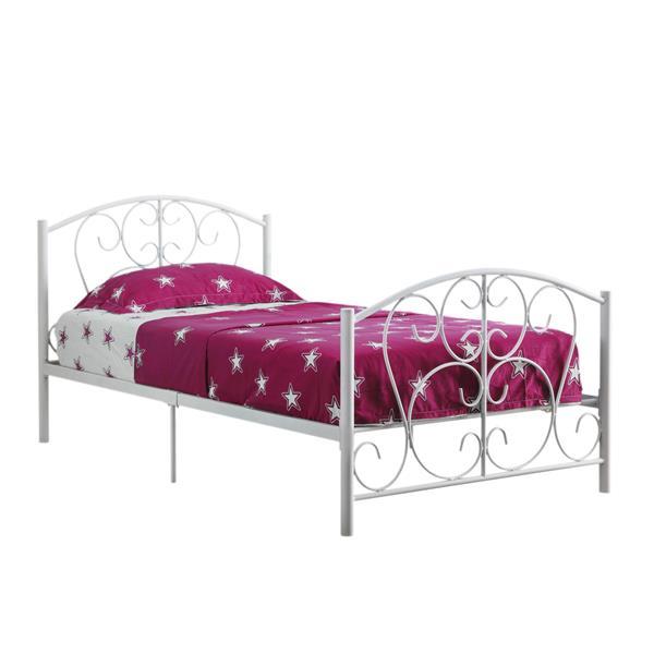 Platforme pour lit simple, blanc