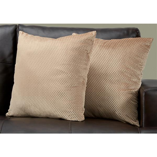 """Decorative Pillow - 2 Pack - 18"""" x 18"""" - Brown"""
