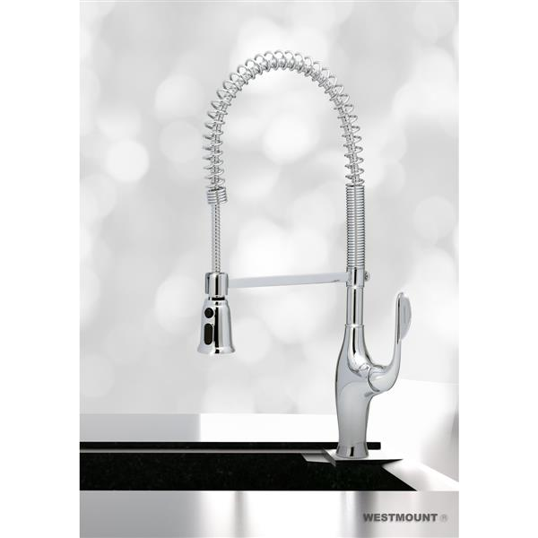 westmount robinet de cuisine debra 1 levier douchette. Black Bedroom Furniture Sets. Home Design Ideas