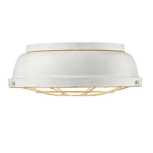 Plafonnier Bartlett de Golden Lighting, blanc français