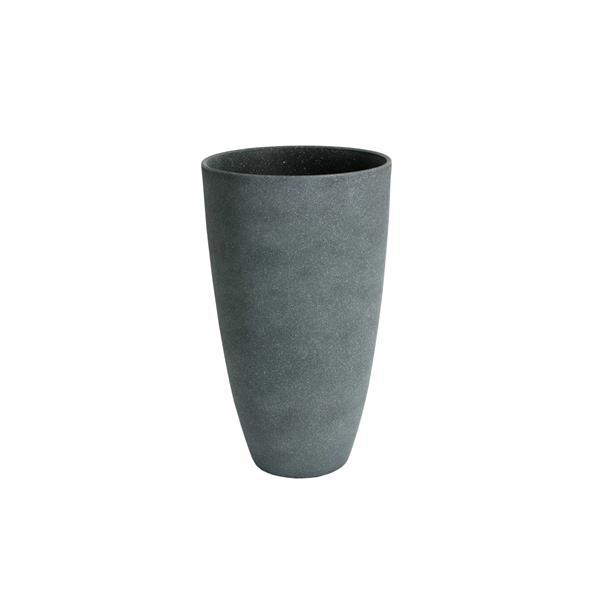 "Algreen Products Acerra Vase Planter - 11.5"" x 20"" - Composite - Gray"