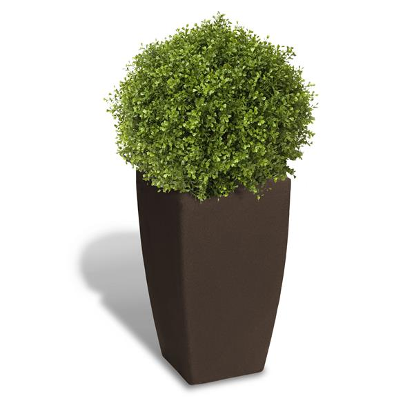 """Algreen Products Madison Planter - 20"""" x 35"""" - Plastic - Brown"""