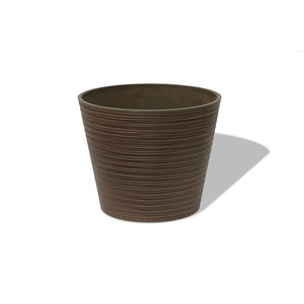 "Algreen Products Valencia Round Planter - 16"" x 13"" - Composite - Cedar"