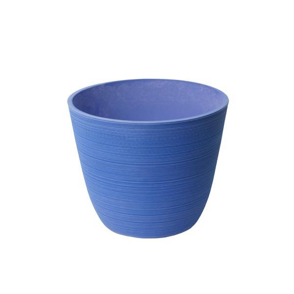 "Algreen Products Valencia Round Planter - 14"" x 11"" - Blue"