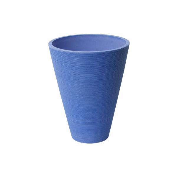 "Jardinière ronde Valencia, 11"" x 14"", composite, bleu"