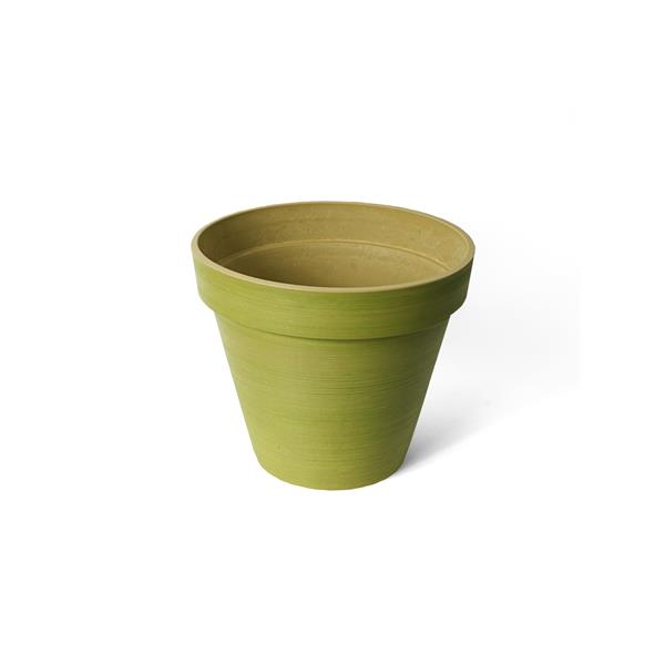 "Algreen Products Valencia Round Planter - 14"" x 12"" - Composite - Green"