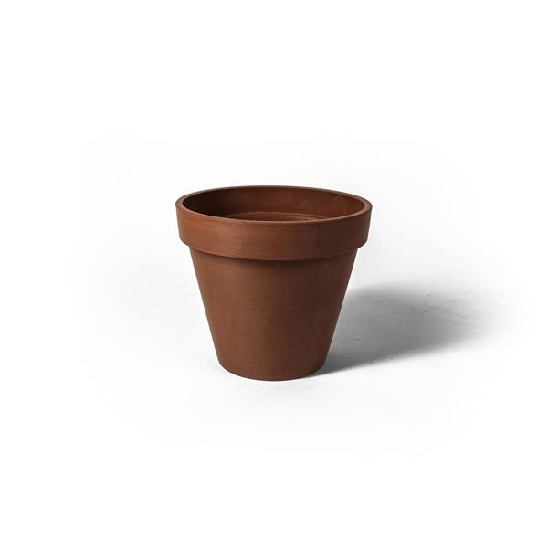 "Algreen Products Valencia Round Planter - 14"" x 12"" - Composite - Terracotta"