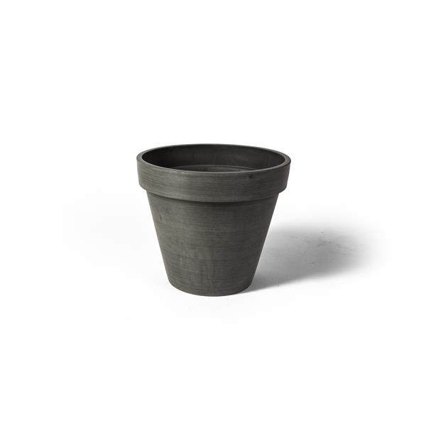 "Algreen Products Valencia Round Planter - 14"" x 12"" - Composite - Charcoal"