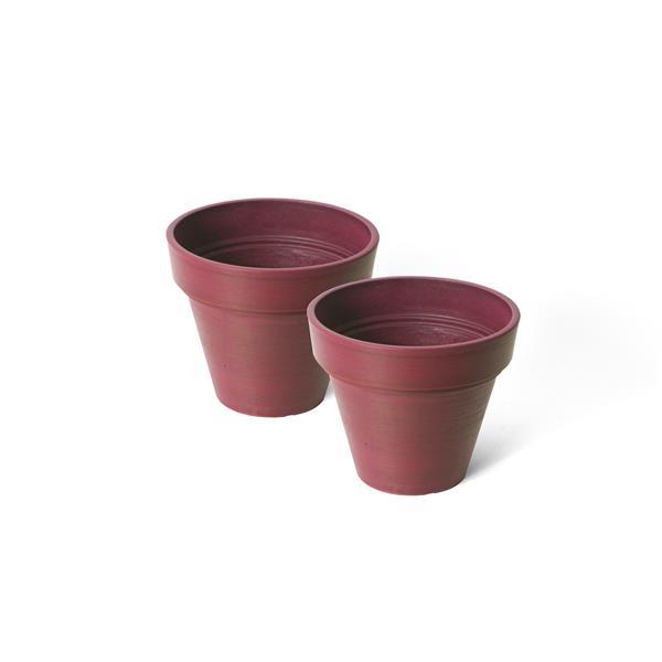 "Algreen Products Valencia Round Planters - 8"" x 7"" - Purple - 2 pcs"