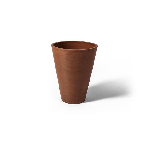 "Algreen Products Valencia Round Planter - 10"" x 13"" - Terracotta"