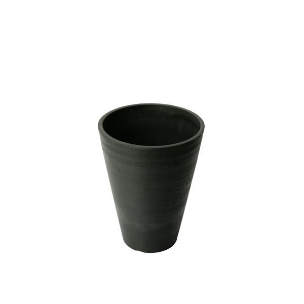 "Algreen Products Valencia Round Planter - 10"" x 13"" - Composite - Black"