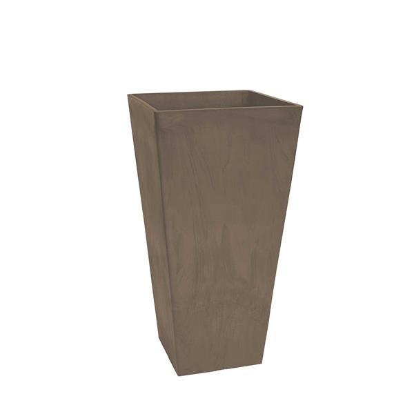 "Algreen Products Valencia Square Planter - 10"" x 20"" - Composite - Taupe"
