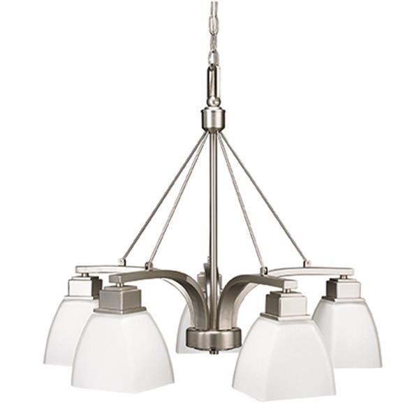 Russell Lighting Trenton Pendant Light - 5-light - Brushed Chrome