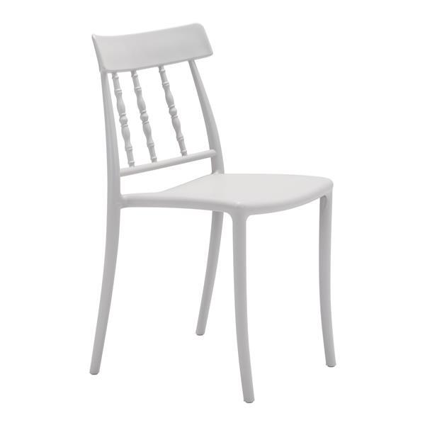 Chaise Rift pour le patio, gris, ensemble de 2