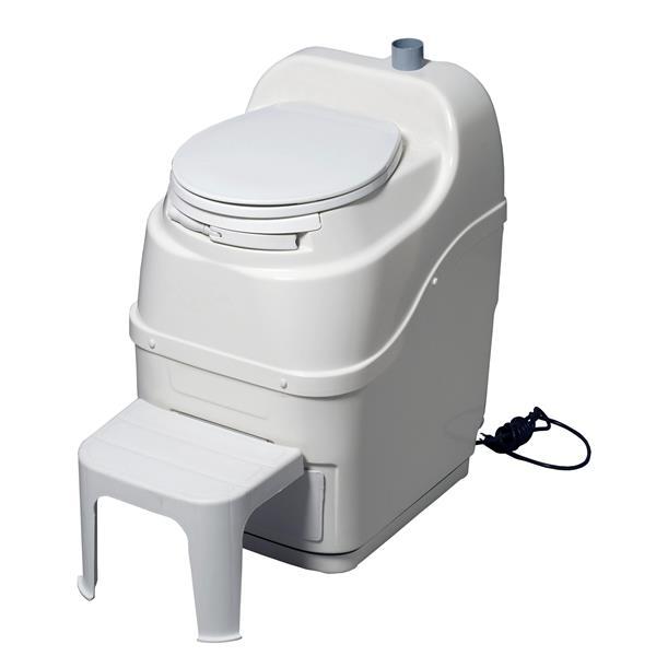 Sun-Mar Portable Toilet Spacesaver - Fibreglass - White