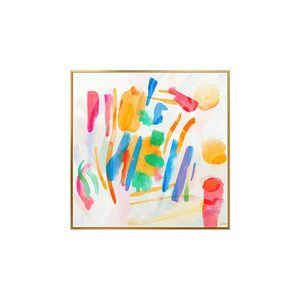 Stella.B Decor SUNDAY Framed Canvas Gold Frame - 32-in x 32-in