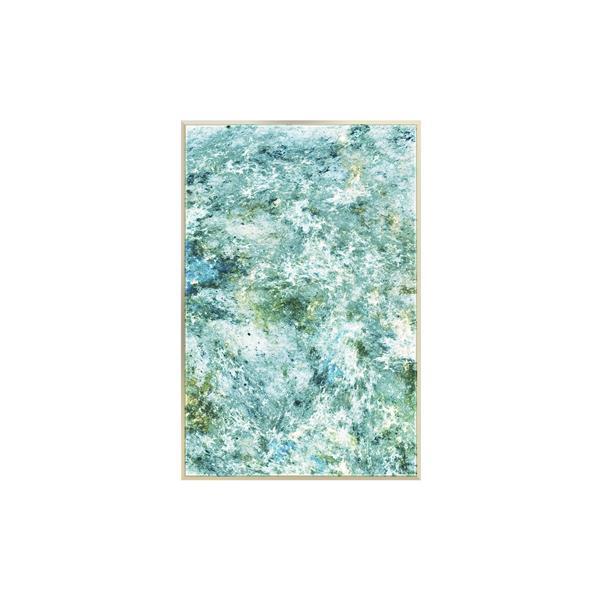 Stella.B Decor SEA FOAM 2 Framed Canvas Champaign Frame - 24-in x 36-in