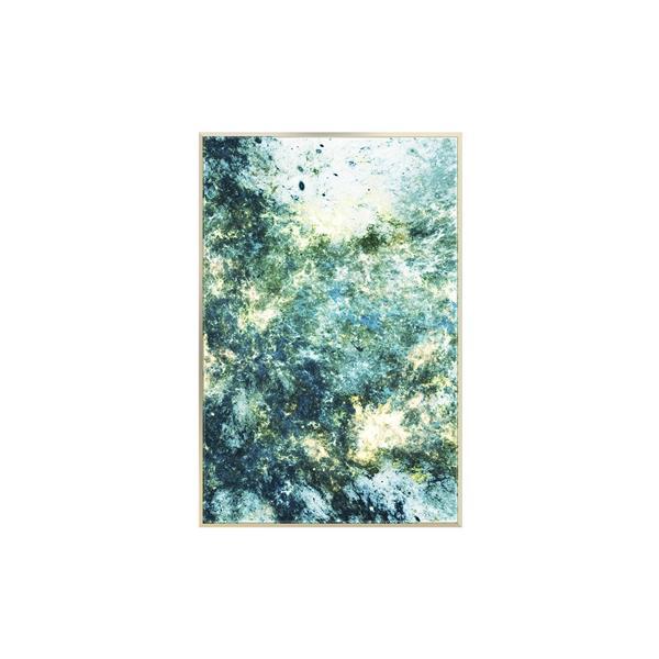 Stella.B Decor SEA FOAM 1 Framed Canvas Champaign Frame - 24-in x 36-in