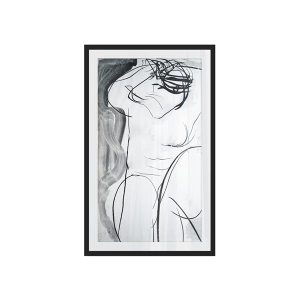 Stella.B Decor LAVIRANI Framed Print with Black Frame - 26-in x 42-in