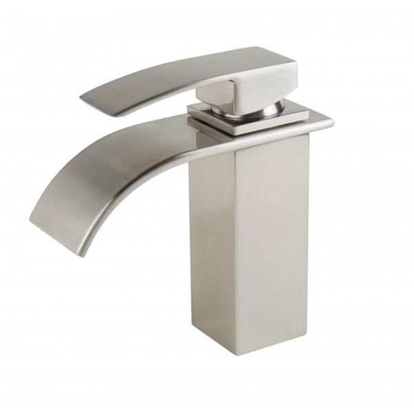 Robinet de salle de bain Waterfall, argent brossé