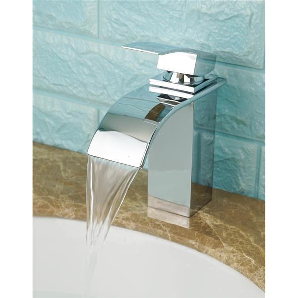 Sera Bathroom Vanity Faucet Waterfall, chrome
