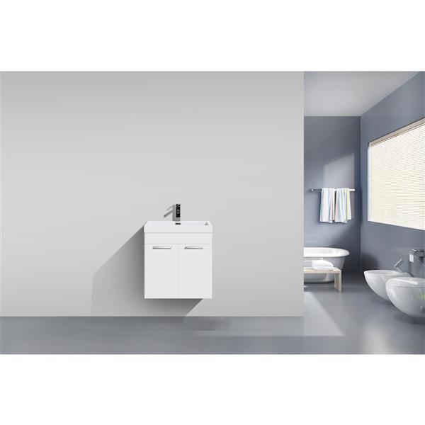 GEF Rosalie Vanity Set with Medicine Cabinet, 20-in White