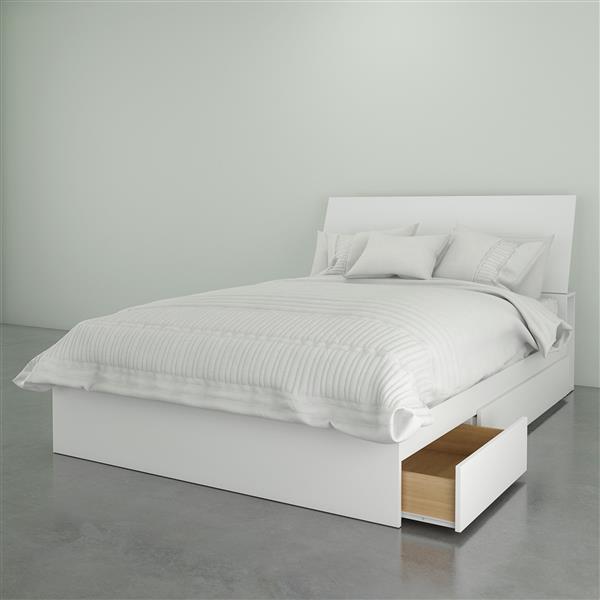 Ens. chambre à coucher double Nexera(MD), 2 mcx, blanc