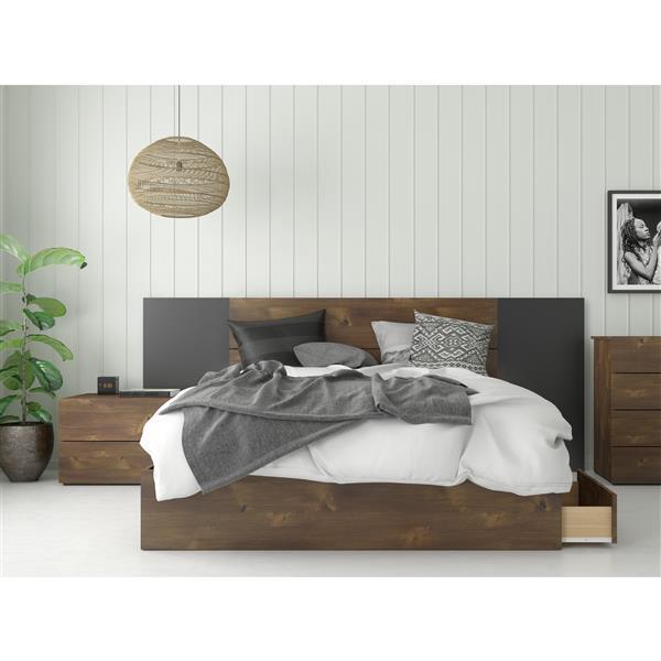 Ens. chambre à coucher grand lit «Rubicon», 4 mcx, truffe