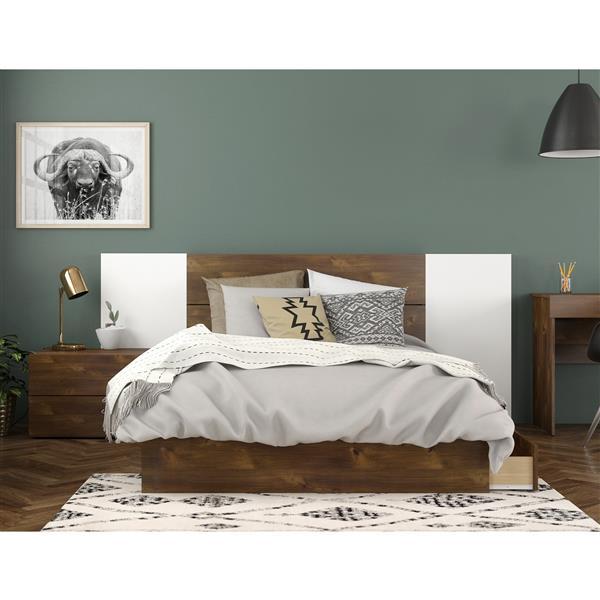 Nexera Rubicon Contemporary Full Bedroom Set - 4 Pieces - Truffle