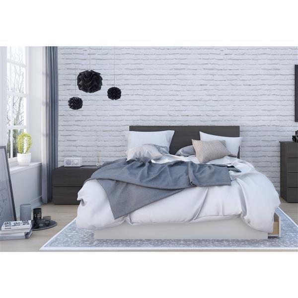 Nexera Cadence Queen Bedroom Set - 3 Pieces - Ebony
