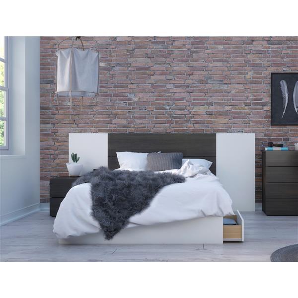 Nexera Cadence Full Bedroom Set - 4 Pieces - Ebony/White