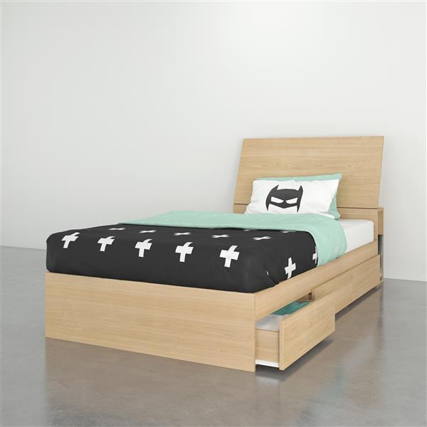 Ens. chambre à coucher simple Nexera(MD), 2 mcx, érable
