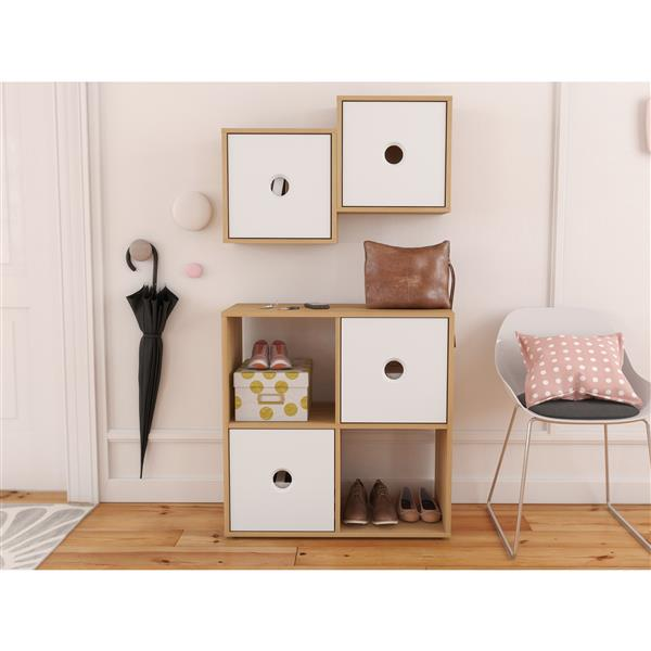 Nexera Domino Contemporary Home Office Set - 2 Pieces - Maple