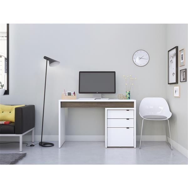 Nexera Chrono Contemporary Home Office Set - 2 Pieces - Grey