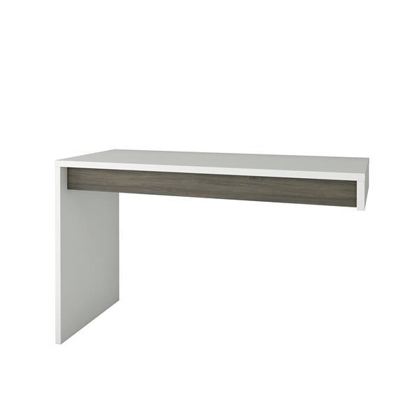 Nexera Contemporary Reversible Desk Panel - Grey/White