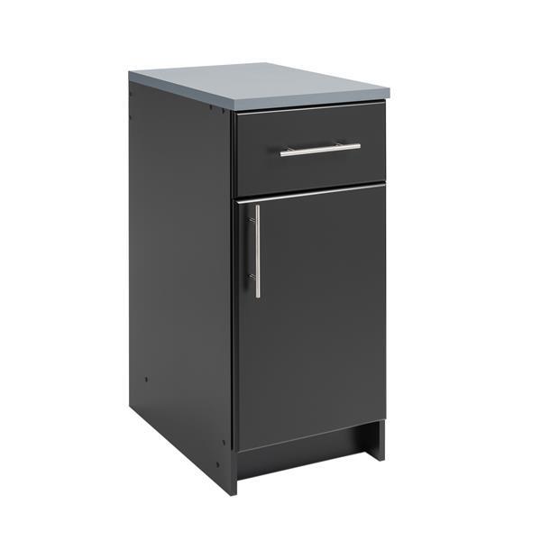 Prepac Elite Base Cabinet. 1 Door and 1 Drawer - Black - 16-in