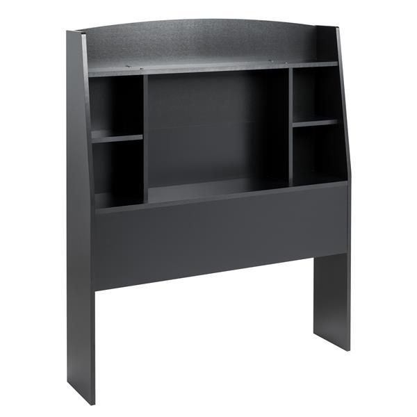 Prepac Astrid Twin Headboard with shelf - Black