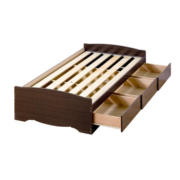 Prepac Twin Mate's Platform Storage Bed with 3 Drawers - Espresso