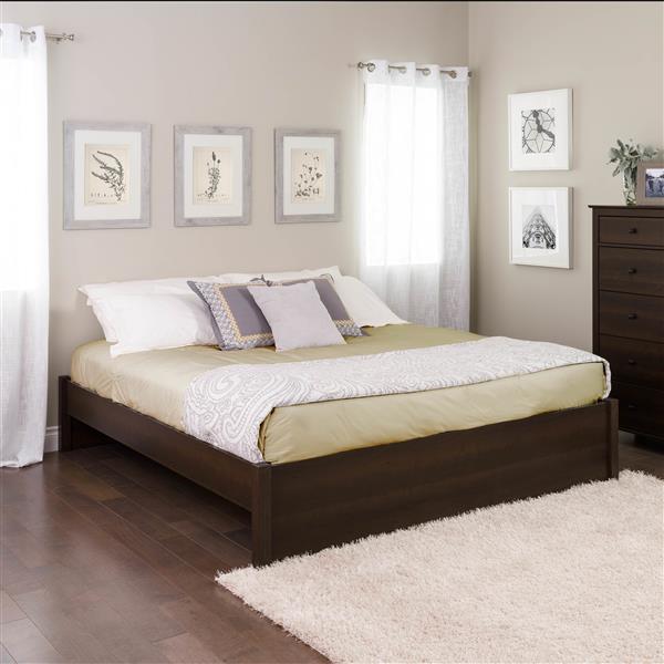 Base de très grand lit plateforme Select, expresso