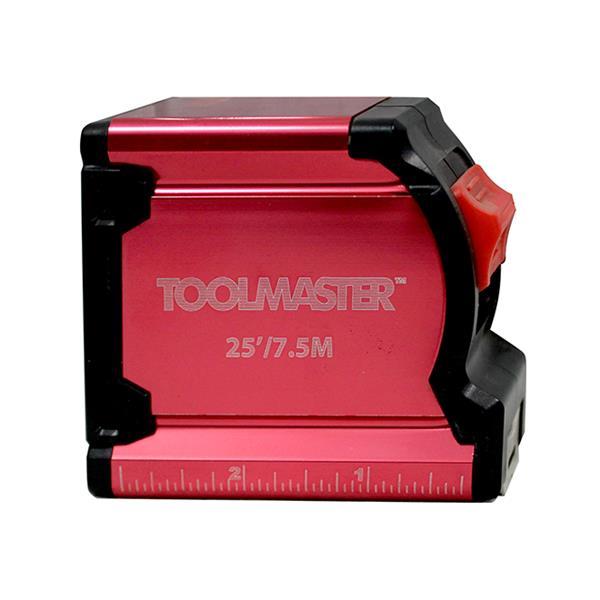 Toolmaster Tape Measure - Belt clip - 25' (7.5 m)