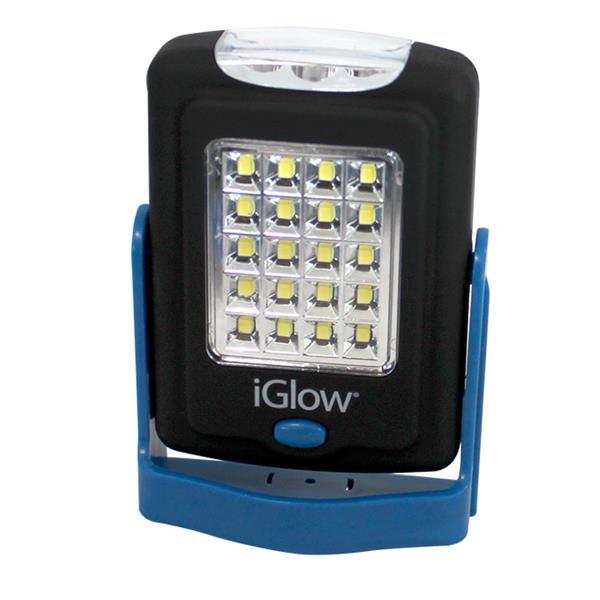 """Lampe de travail iGlow avec aimant et crochet, 3,9"""" x 3,4"""""""